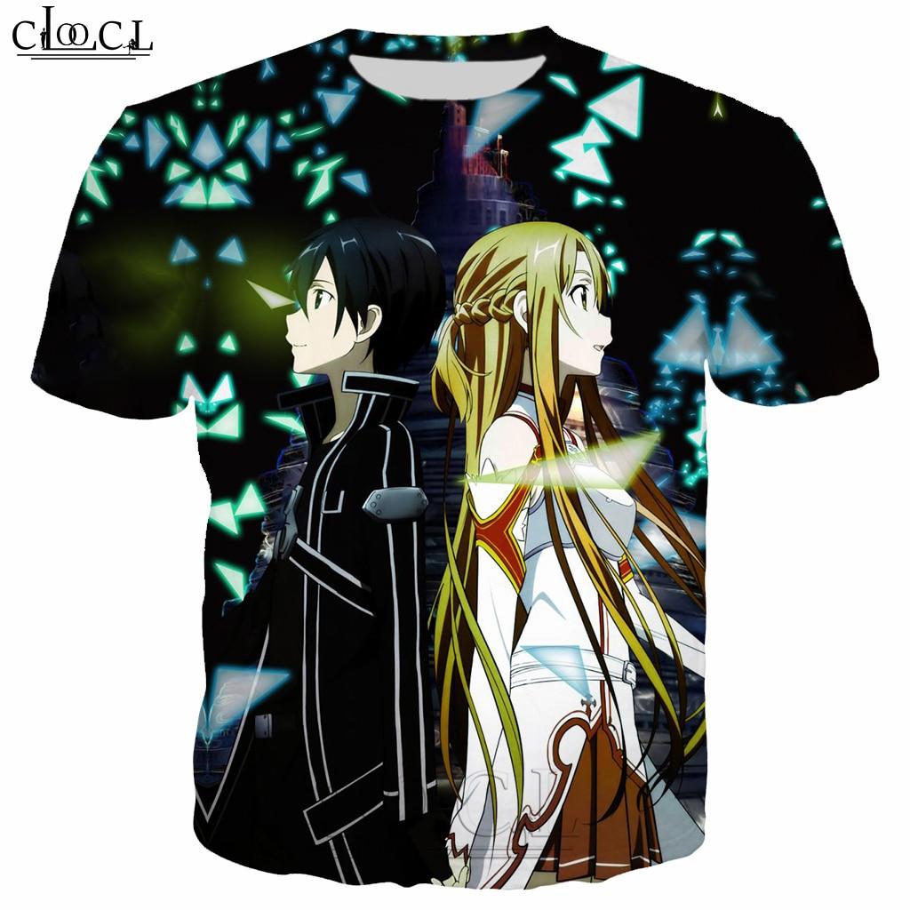 Japanese Anime Sword Art Online T Shirt Men/Women 3D Print Fashion Men's Clothing T Shirt Tracksuit Casual Streetwear Tops B124
