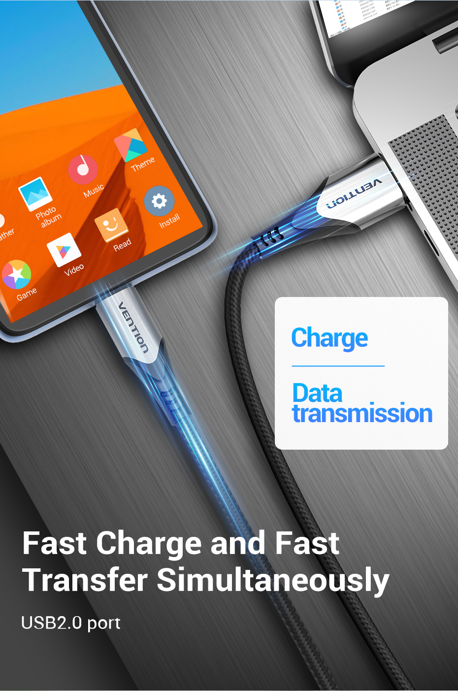 3A Micro USB Cable Fast Data Sync Charger for android phone 1m H01f481b9900d4578a3cab453127aeaefT