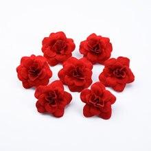 30 pçs acessórios de decoração para casa casamento rosas vermelhas acessórios de noiva apuramento natal grinaldas decorativas flores artificiais