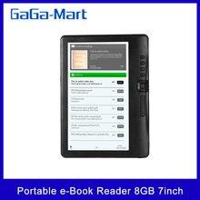 BK7019 Portable e Book Reader 16GB/8GB 7inch Multifunction E Reader Backlight Color LCD Display Screen