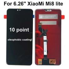 """ใหม่ 6.26 """"ทดสอบต้นฉบับLcd AAAสำหรับXiaoMi Mi8 Lite Mi8 เยาวชนจอแสดงผลLCDหน้าจอสัมผัสMi8x Mi 8x digitizer Assembly Replacement"""