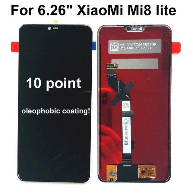 """新 6.26 """"テストオリジナルのlcd aaa xiaomi Mi8 lite mi8 ユースlcdディスプレイタッチスクリーンmi8x mi 8xスクリーンデジタイザアセンブリの交換"""