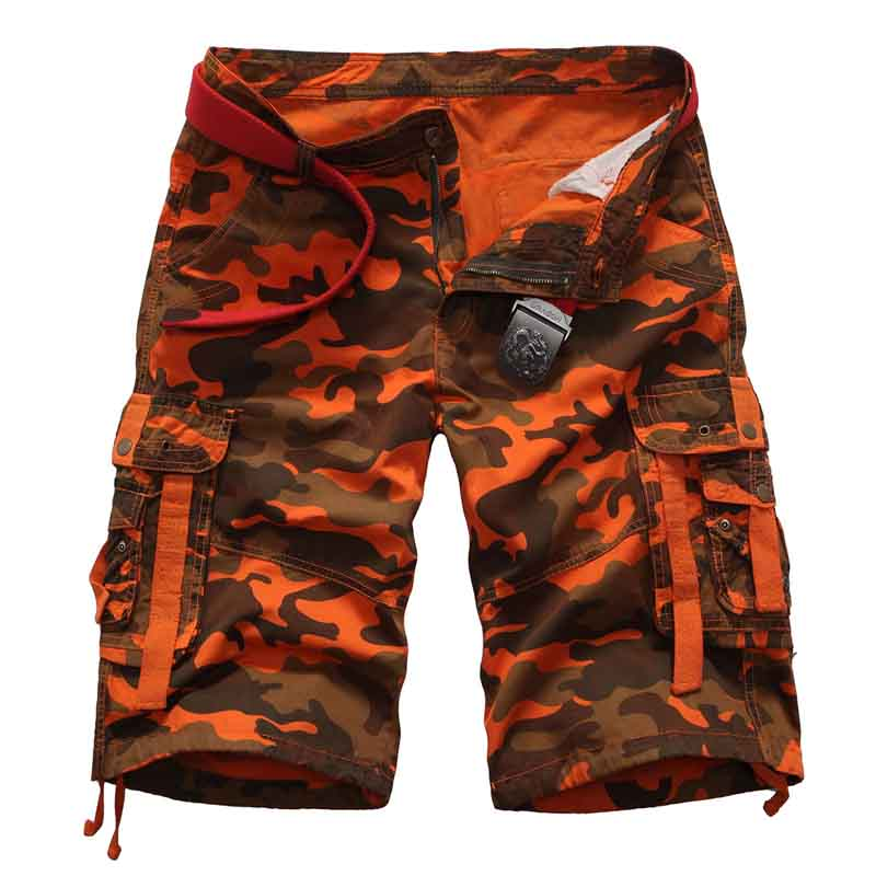 Mens Cargo Shorts Cotton Military Camouflage Male Jogger Camo Cargo Shorts 2020 Summer Men Casual Loose Workout Shorts