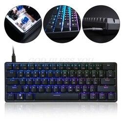 GK61 61 механическая клавиатура USB Проводная светодиодный с подсветкой Axis игровая механическая клавиатура для рабочего стола Прямая поставка