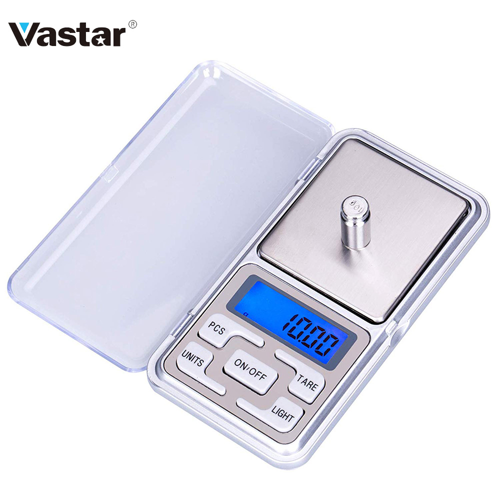 Vastar 200g/300g/500g x 0.01g /0.1g/Mini Electronic Scales Pocket Digital Scale for Gold Sterling Silver Jewelry Balance Gram