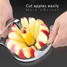 Fruit Slicer Cutter Useful Kitchen Gadgets Stainless Steel Easy Cut Apple Tomato Vegetable Knife Safety Kitchen Accessories(China)