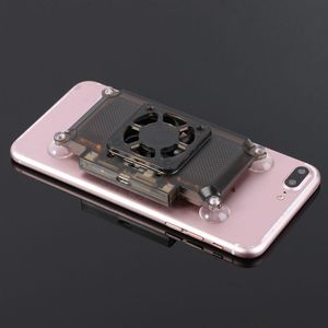 Image 2 - Universal Mobilephone Cooler Cooling Support Holder Fan Radiator For iPhone X Samsung Huawei Xiaomi Smartphone Tablet