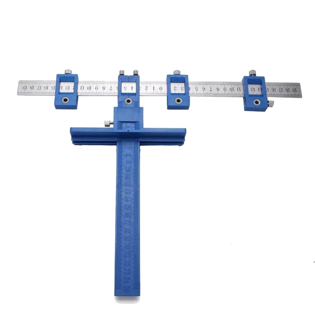 Multifunctional Furniture Woodworking Perforating Locator Auxiliary Adjustable Opening Locator Light And Easy To Carry