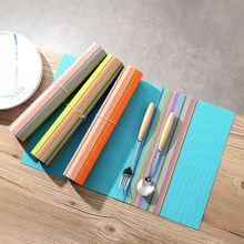 Высококачественный коврик для стола из ПВХ места тепловой цветная