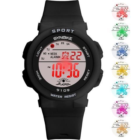 SYNOKE Fashion 50M Waterproof Students Kids Watches Children Boys Girls Digital LED Alarm Date Casual Watches Sport Wrist Watch Multan