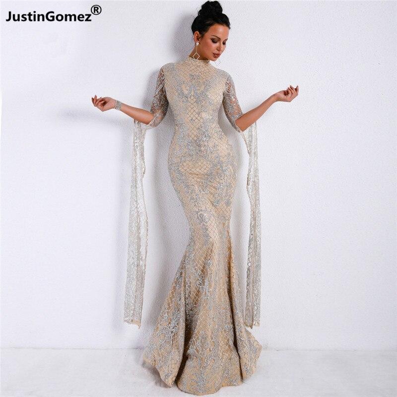Manches longues maille Longue Robe sirène moulante serré soirée fête femmes d'été Robe d'été Maxi solide à la mode Robe Longue Femme Ete
