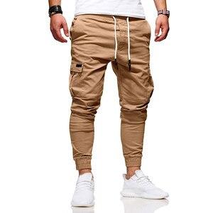 Image 2 - Men Fashion Pants Cargo Overalls Streetwear Joggers Hip Hop Sweatpants Casual Breathable Brand Trousers Male Harem Pants Casual