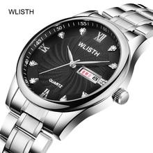 цена на WLlSTH Men's Watch Wallace Watch Explosion Model Steel Band Waterproof Business Fashion Quartz Watch