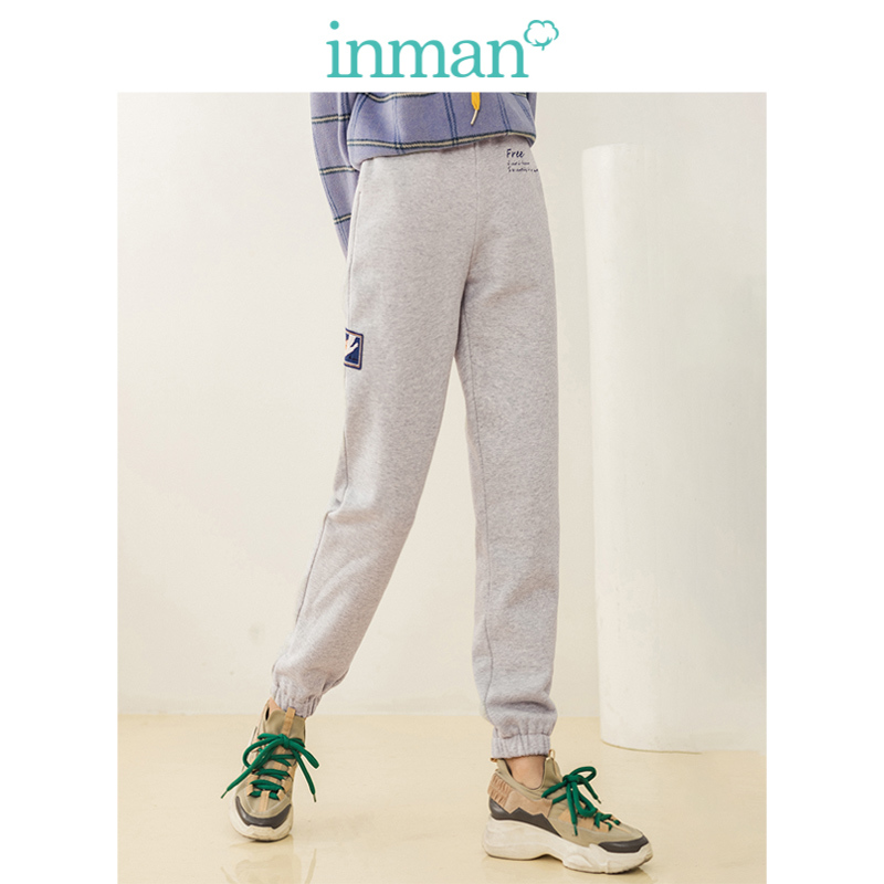 INMAN Winter Elastic Waist Fashion Embroidery All Matched 100%Cotton Women Pencil Pants