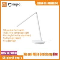 Xiaomi-lámpara de mesa Mijia Lite, interruptor táctil sin luz estroboscópica, protección ocular, luz LED regulable de lectura para escritorio, enchufe de EE. UU., luz Shiftable, 2021