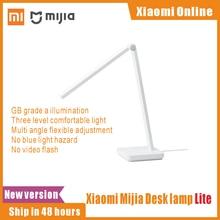 Xiaomi Mijia مصباح طاولة يعمل باللمس ، ضوء LED مع مفتاح يعمل باللمس ، غير قوي ، قابل للتعتيم ، لسطح المكتب أو القراءة ، بمقبس أمريكي ، 2021