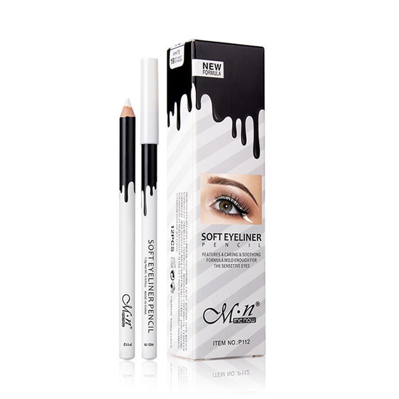delineador branco maquiagem suave facil usar olhos abrilhanter a prova dwaterproof agua branco olhos forro lapis
