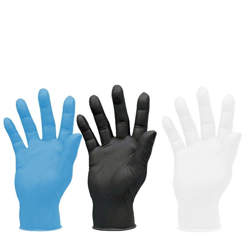 100pcs Disposable Nitrile Gloves White Non-Slip  Rubber Latex Gloves Dishwashing/Kitchen/Medical /Work//Garden Anti-Virus Glove