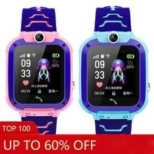 Детские gps Смарт часы цветной экран водонепроницаемый для позиционирования