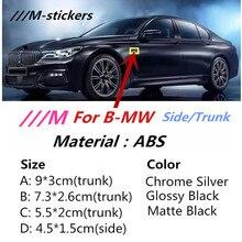 M Sport M Power эмблема наклейки значок крыло боковое крыло логотип багажника автомобиля для BMW X3 X5 X6 M3 M4 M5 320 325 E36 E46 E90 E92 F10 F30