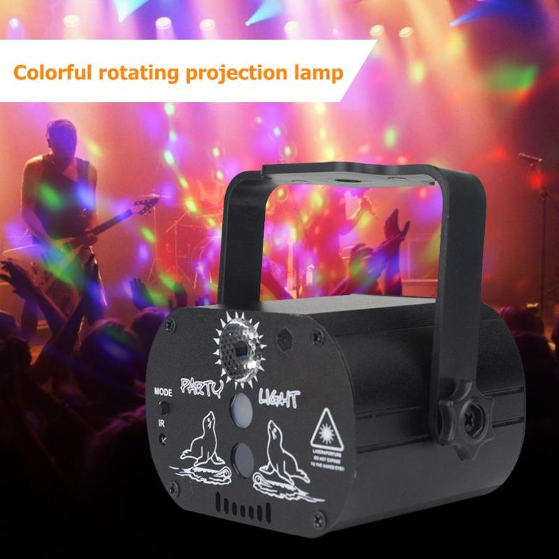 USB Rechargeable Mini LED Laser Projector Light Club DJ Disco Stage Light