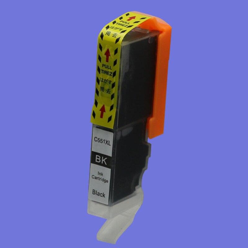 2шт чернильные картриджи CLI 551 551xl черный и серый совместимый для Canon PIXMA MG6350 MG6450 MG7150 Ip7250 MX925 струйный принтер