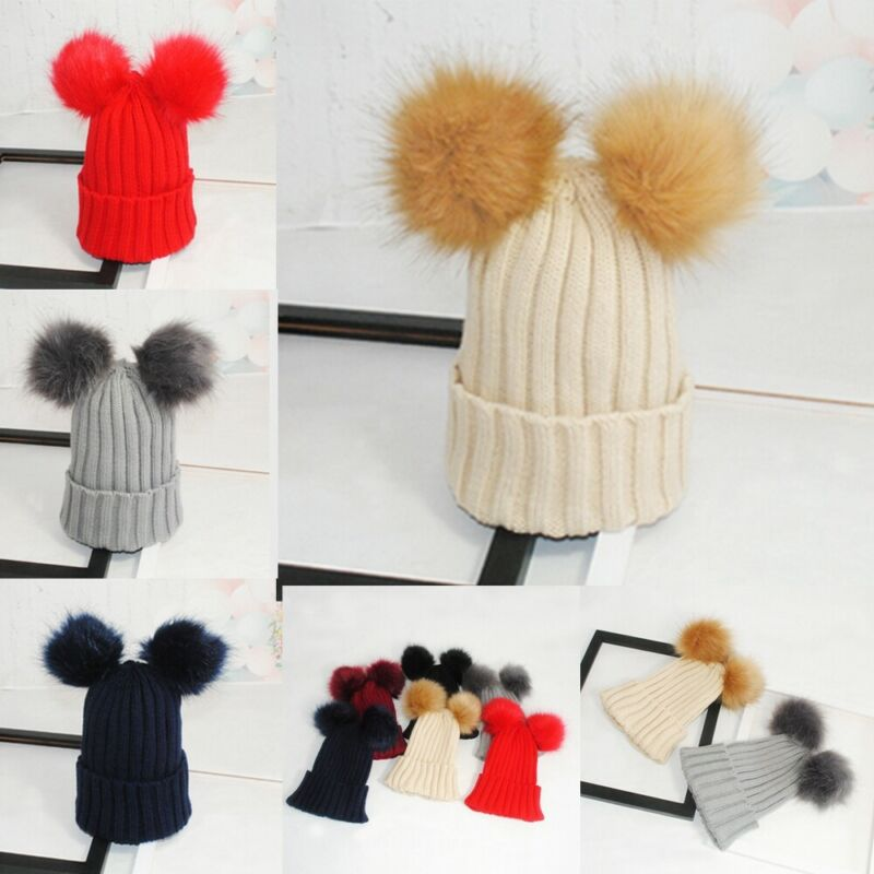 Fashion Womens Cable Knitted Bobble Hat Beanie Very Warm Winter Pom Wooly Cap