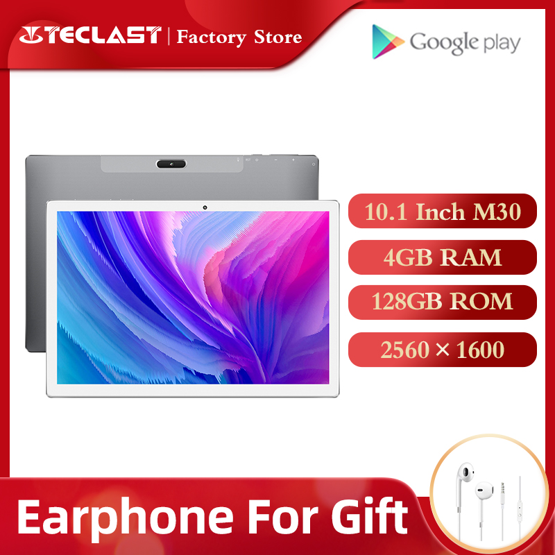 Teclast tablet M30 PC 10,1 polegadas Android, 2560*1600 IPS ligações 4G notebook 4GB RAM 128GB ROM Tipo C GPSTablets   -