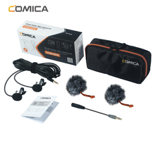 CoMica CVM D02 ไมโครโฟน 2.5M 4.5M 6.0M Lavalierคอนเดนเซอร์ไมโครโฟนสำหรับกล้องDSLRโทรศัพท์Goproสตูดิโอไมโครโฟน