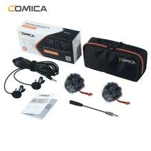CoMica CVM D02 Microfono 2.5M 4.5m 6.0m Lavalier Microfono A Condensatore Microfono per la Macchina Fotografica DSLR Telefono Gopro Studio Microfono