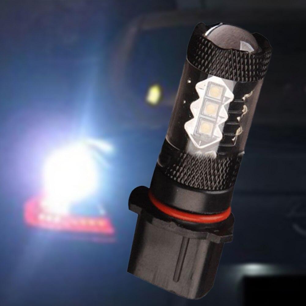 Комплект из 2 предметов яркие H10 9145 9005 светодиодные лампы для противотуманных фар P13W 7000K 800LM белый вождение автомобиля противотуманные фары ...