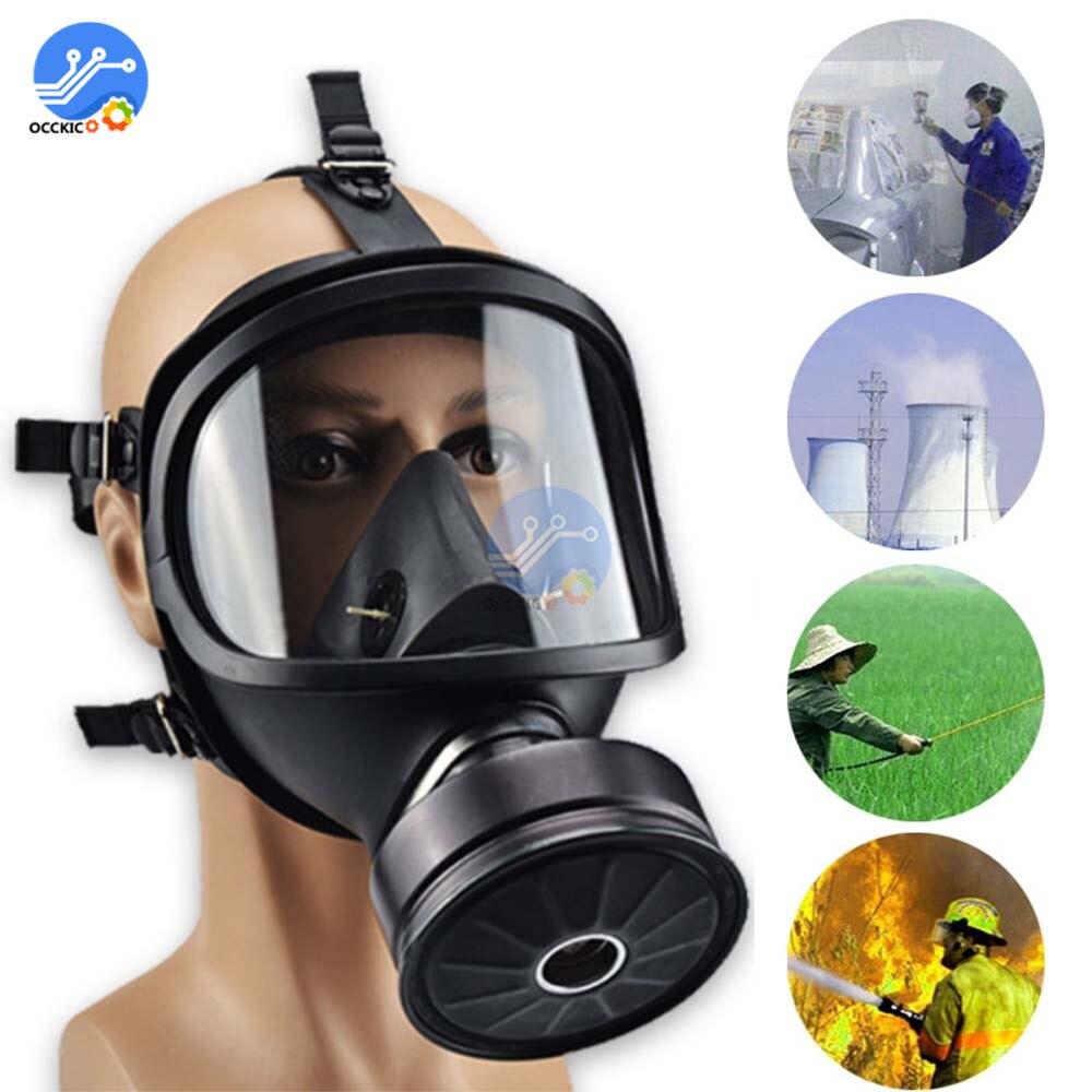 Gas Mask Respirator Chemical Biological Radioactive Protection Self-priming Full Face Mask Gas Mask Military Hazmat Suit
