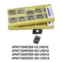 10個deskarフライスカッターAPMT1604PDER H2 APMT1604PDER M2 APMT1605PDER XM LF6018旋削工具旋盤加工ステンレス鋼