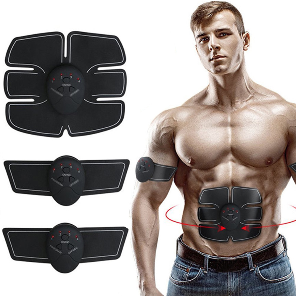 Muscle Stimulator Abdominal Belly Leg Arm Exercise Electric Simulator Body Building Fitness Massager Vibrating Exercise Machine