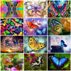 HUACAN Oil Painting Animals Hand Painted Acrylic On Canvas DIY Picture By Numbers Butterfly Flower Wall Art Gift Home Decoration
