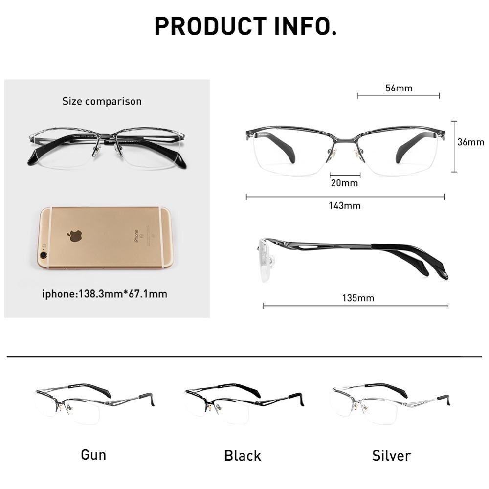 BERTHA ультра светильник, очки из чистого титана, Высококачественная оправа, синий светильник, блокирующие очки, очки по рецепту для мужчин JF2277 - 5