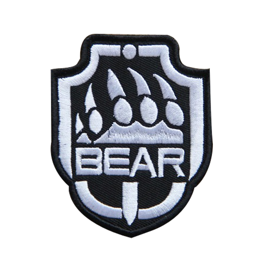 RUSSIAN BEAR Printed Sew On Patch Ancient Bear Logo from Russia !!