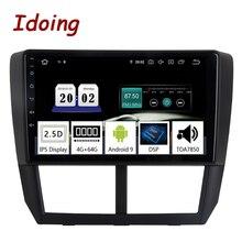 "Idoing 9 ""coche Android9.0 Radio reproductor Multimedia para Subaru Forester 2008-2012 PX5 4G + 64G 8 Core GPS navegación 2.5D IPS TDA 7850"