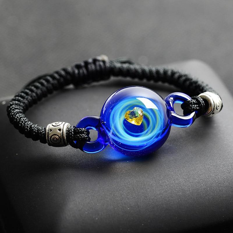 BOEYCJR, горячая Распродажа, Вселенная, планеты, стеклянные браслеты из бисера и браслеты, модные ювелирные изделия, галактика, солнечная система, браслет для женщин, Рождество - Окраска металла: 11