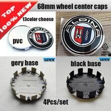 4pcs pvc 68mm 10 pin Hub Centro Da Roda tampas Tampas de Aro Emblema Emblema adesivos Para bmw e46 e30 1 3 6 5 7 8 Z3 Z4 M3 M5 & X1 X3 X5