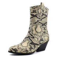 Женские ботинки со змеиным принтом с will code короткие 40 48