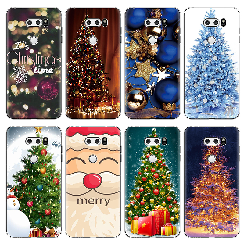 Merry Christmas Soft TPU Case for <font><b>LG</b></font> X Power 2 V20 V30 G4 G5 G6 G8 ThinQ Q6 Q7 K4 K8 K10 <font><b>K11</b></font> Plus 2017 Nexus 5X Cover Case Coque image