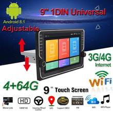 """"" ""Mobil Multimedia Player 1Din/2Din Radio Stereo untuk Android 8.1 dengan Down Adjustable Layar WIFI/ 3G/4G Bluetooth GPS Nav(China)"