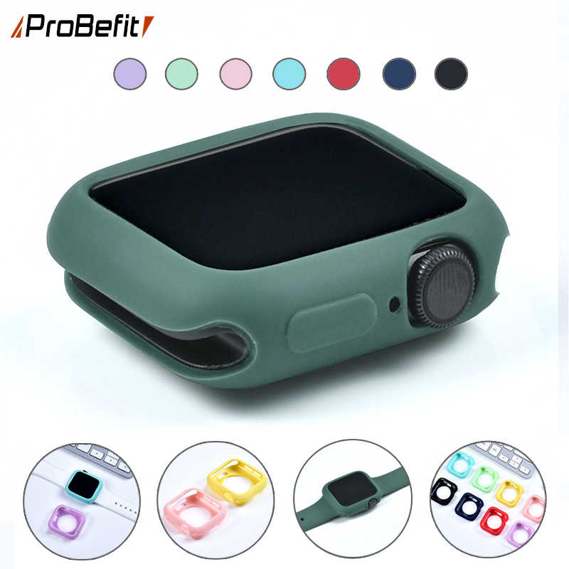 ProBefit Candy Soft Silicone Case for Apple Watch 3 2 1 42MM 38MM Cover Protection Shell for iWatch 4 5 40MM 44MM Watch Bumper