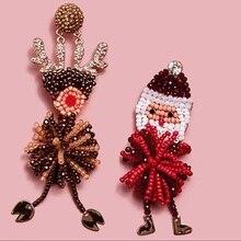 Girlgo New Bauble Bar Santas Handmade Beads Dangle Drop Earrings For Women Elegant Snowman Hanging Statement Jewelry