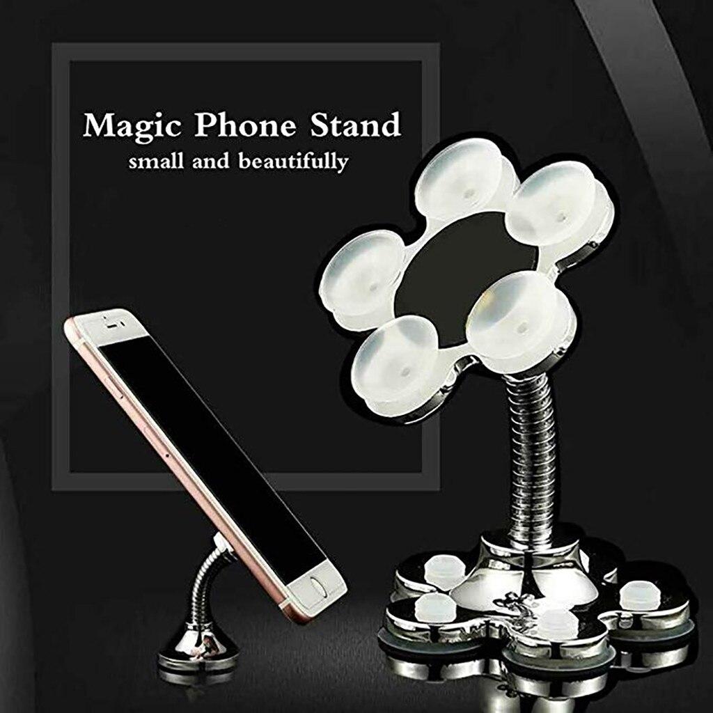 Soporte de navegación para teléfono móvil, soporte creativo de escritorio con ventosa mágica para Coche