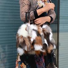 2020 New Fox Fur Collocation Cowhide Fur Bags Women′s Bags Popular Fashion All-Match Portable Soft Handle Shoulder Bag