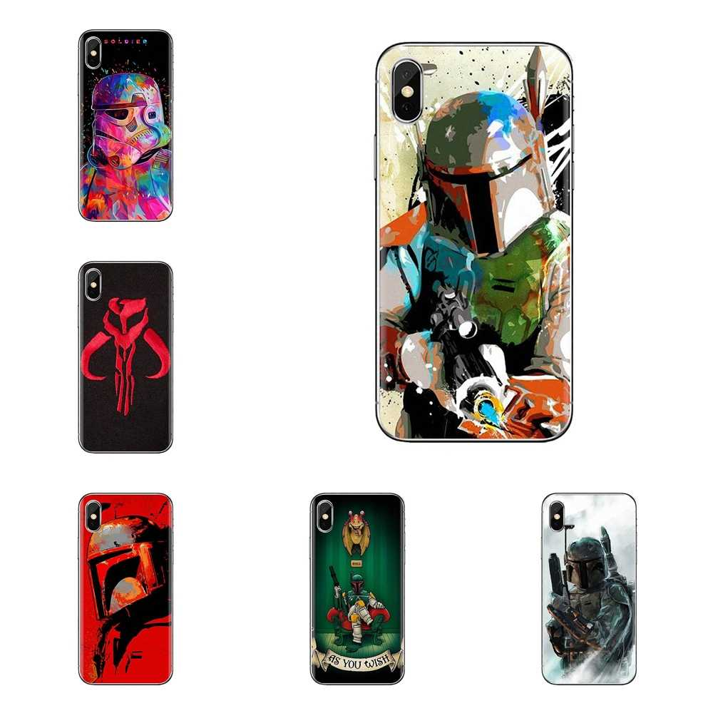 Star wars 7 darth vader boba fett TPU สำหรับ Samsung Galaxy S2 S3 S4 S5 MINI S6 S7 edge s8 S9 Plus หมายเหตุ 2 3 4 5 8 Coque Fundas