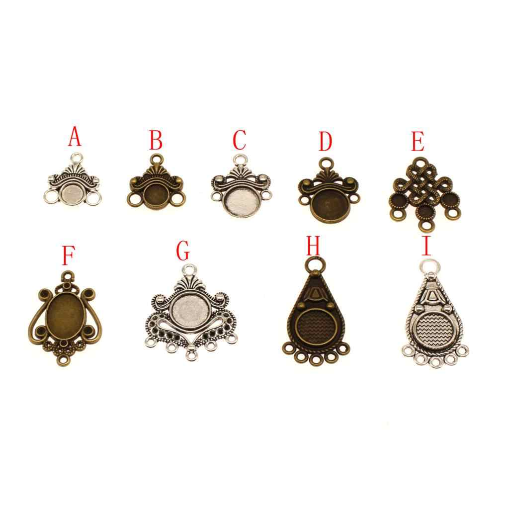 1 Piece Earrings Cameo Base Setting Mix Charm Pendant Metal Metal Pendant Charm Making Jewelry