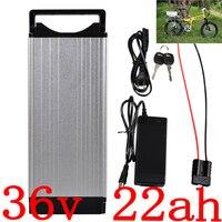 36V 1000W Bateria De Lítio Rack Traseiro Bateria eBike 36V 22AH 36V 20Ah 22Ah 25Ah Bateria Bicicleta Elétrica com carregador 2A duty free
